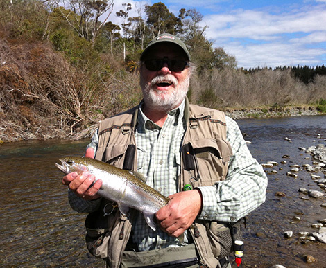 Don holding a Brown trout