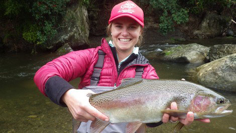 Fly Fishing back country New Zealand Trout Fishing  Turangi