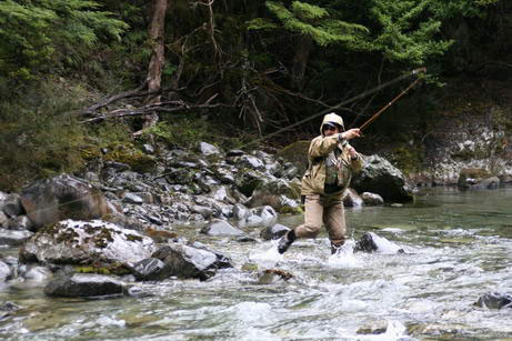 Winter Fly Fishing - Father and son for the USA - fishing the mighty Tongariro